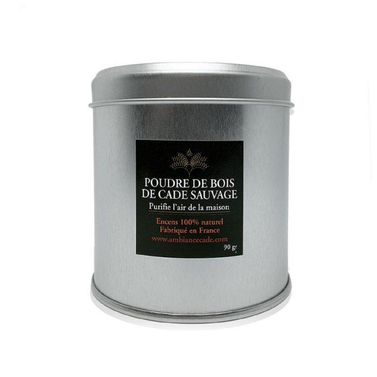 """Poudre de cade nature. Encens 100% naturel issu de l'arbuste """"Cade"""". Purificateur et assainissant. Utilisez le pour votre intérieur."""
