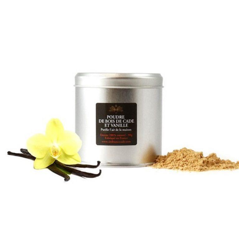 """Poudre de cade à la vanille. Encens 100% naturel issu de l'arbuste """"Cade"""". Purificateur et assainissant. Utilisez le pour votre intérieur."""