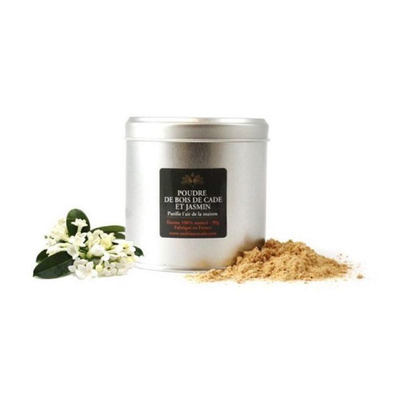 """Poudre de cade au jasmin. Encens 100% naturel issu de l'arbuste """"Cade"""". Purificateur et assainissant. Utilisez le pour votre intérieur."""