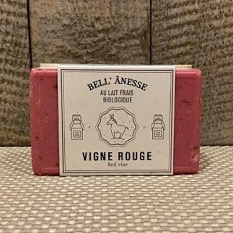 savon exfoliant au lait d'ânesse biologique et vigne rouge. Gommage du visage et corps
