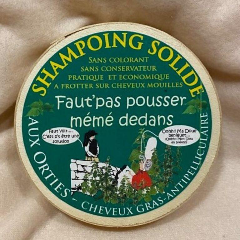 Shampoing solide aux orties. Cheveux à tendance grasse et antipelliculaire. Fabrication artisanale Bretonne