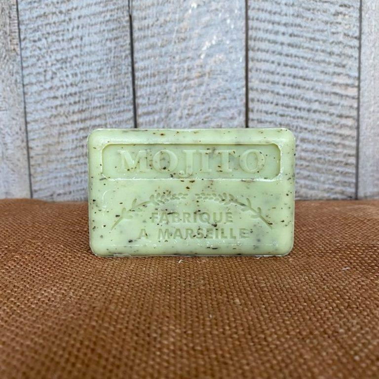 Savonnette de Marseille au beurre de karité parfumée au Mojito, 125g